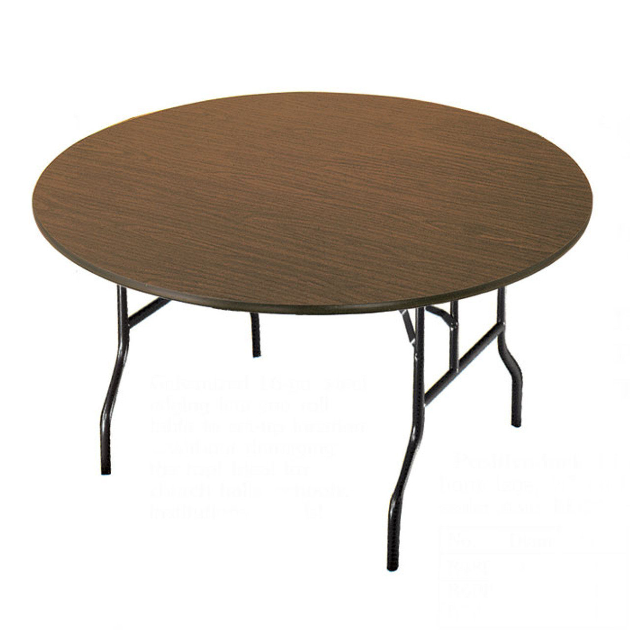 - R60F Particleboard Core Round Folding Table L Affordable Tables