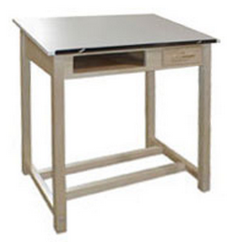 c5b26afbfc85 Hann WD-20 Drawing Table Bookwell   Drawer 24 x 36 Fixed Angled Top