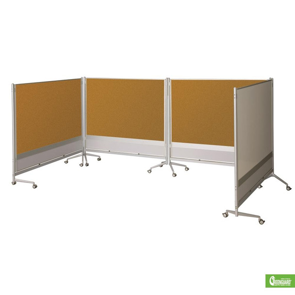 Balt 661AD-DC D.O.C.  Porcelain Steel Cork Board Partition 48 x 59