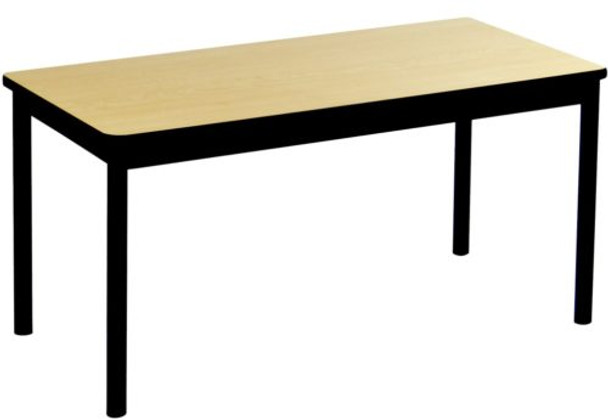 Correll LR3072 High Pressure Laminate Top Rectangle Library Table 30 W x 72 L