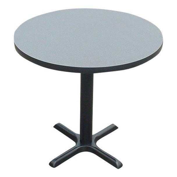 Correll BXT24R High Pressure Laminate Café and Breakroom Table 24 Inch Diameter Fixed Height