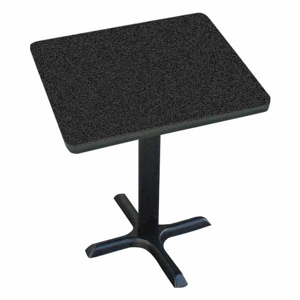 BXT24S High Pressure Laminate Café and Breakroom X Base Table 24 Inch Square Fixed Height