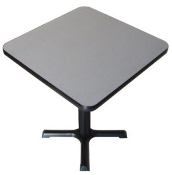 Correll BXT30S High Pressure Laminate Café and Breakroom X Base Table 30 Inch Square Fixed Height