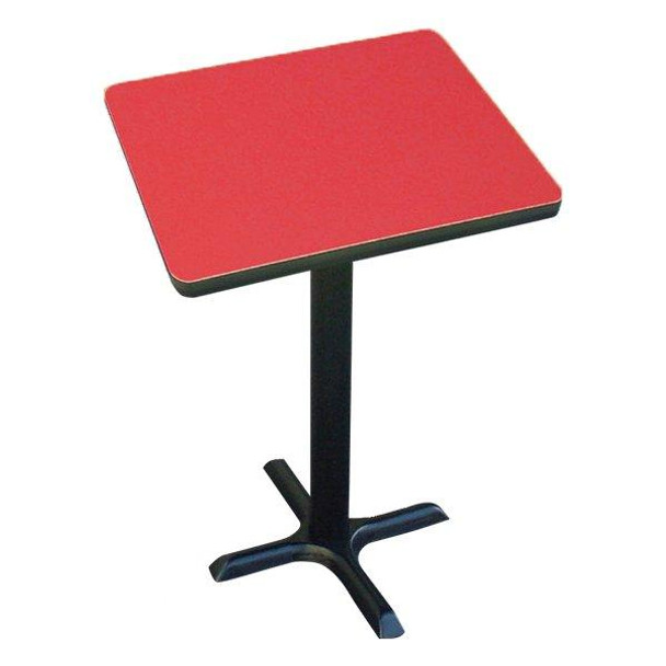 Correll BXT42S High Pressure Laminate Café and Breakroom X Base Table 42 Inch Square Fixed Height