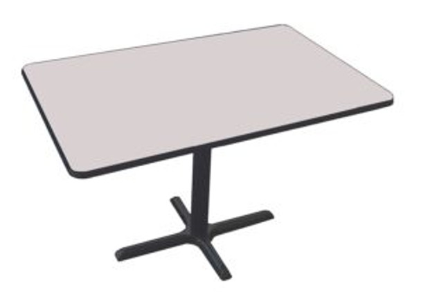 Correll BCT3048 High Pressure Laminate Café and Breakroom Cross Base Table 30 W x 48 L Fixed Height