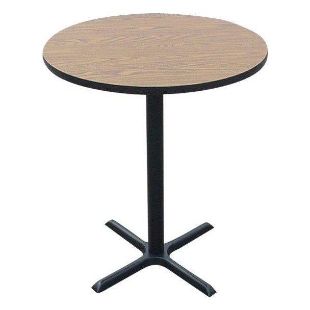 BXB24R High Pressure Laminate Cafe Standing Height Table 24 Inch Diameter Fixed Height