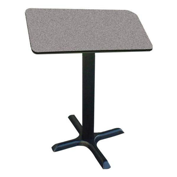 BXB42S Cafe and Breakroom Standing Height Table 24 Inch Square Fixed Height