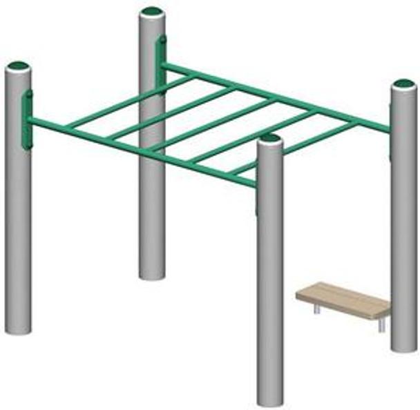 UltraPLAY MEC-620 Metal Overhead Ladder
