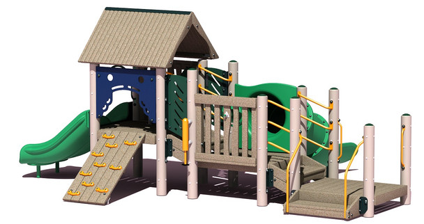 UltraPLAY MEC-670 Bungalow Metal Playground Structure Set