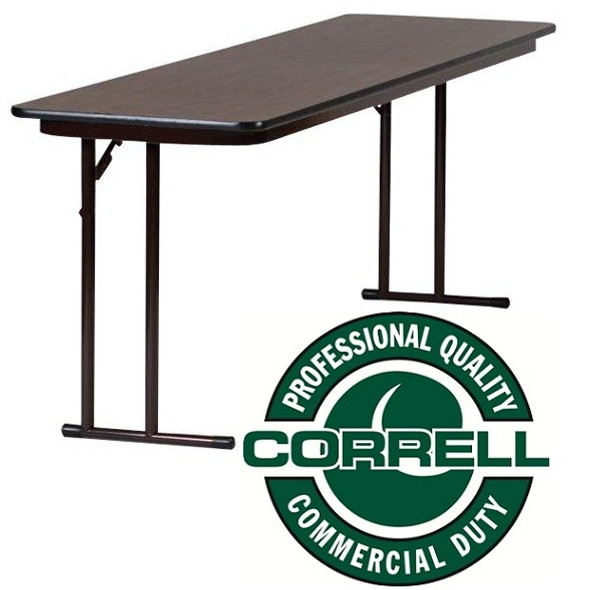 ST2472PX High Pressure Laminate Top Off Set Leg Folding Seminar Table 24 W x 72 L Fixed Height