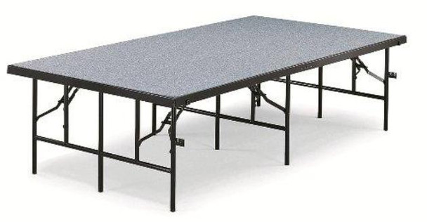 Portable Stage and Seated Choral Riser Single Height Carpet Deck Midwest 4832C