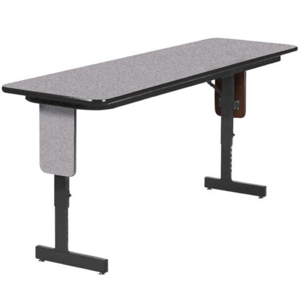 Correll SPA2472PX High Pressure Laminate Panel Leg Folding Seminar Table 24 W x 72 L Adjustable Height
