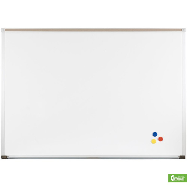 MooreCo 202AG Porcelain Steel Markerboard with Deluxe Aluminum Trim 4 x 6