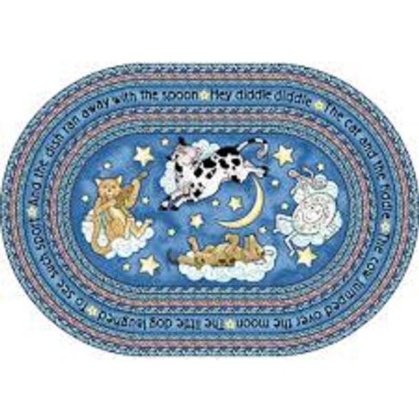 Joy Carpets 1474-CC Hey Diddle Diddle Rug