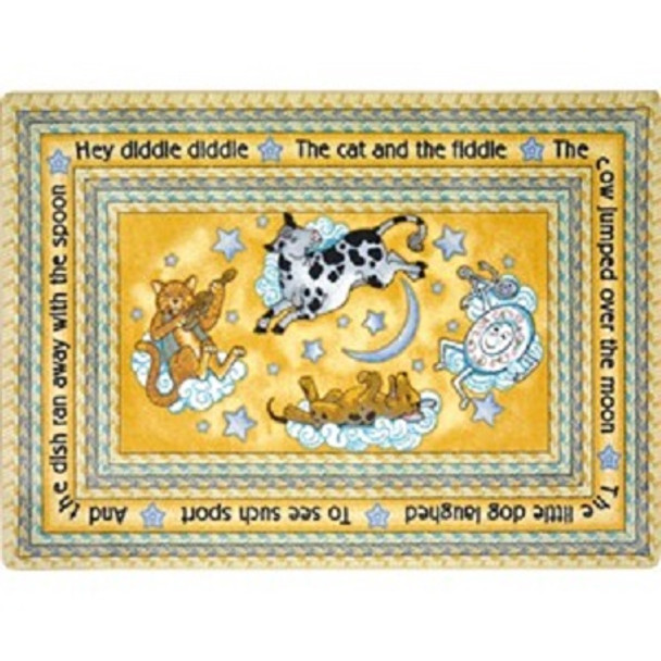 Joy Carpets 1474-B Hey Diddle Diddle Rug 3ft 10in x 5ft 4in