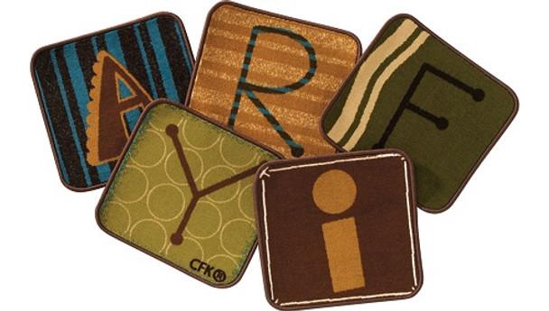 "Carpets for Kids 12614 Toddler Alphabet Blocks Kit 26 Blocks 14"" x 14"" Squares"