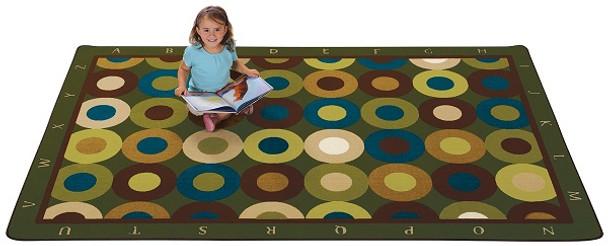 Carpets for Kids 17724 Alphabet Calming Circles 4' x 6'