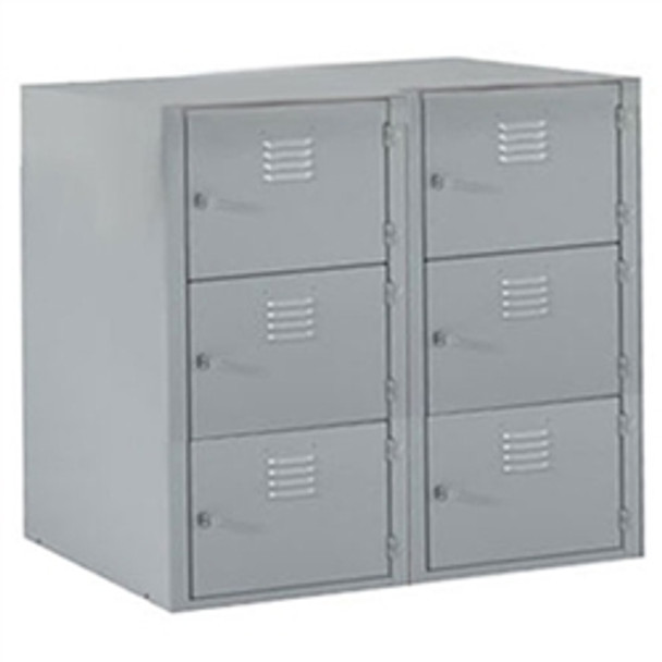Shain LB-6A Locker Base with Six Horizontal Lockers