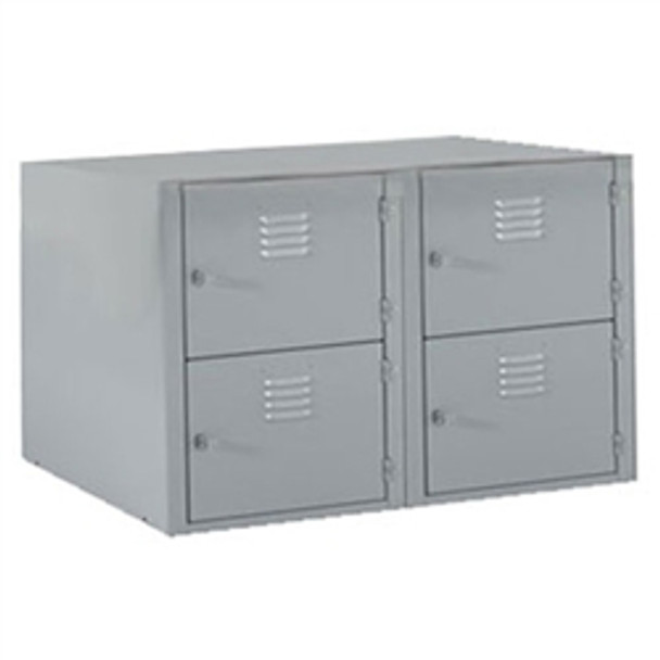 Shain LB-B4 Locker Base with Four Horizontal Lockers