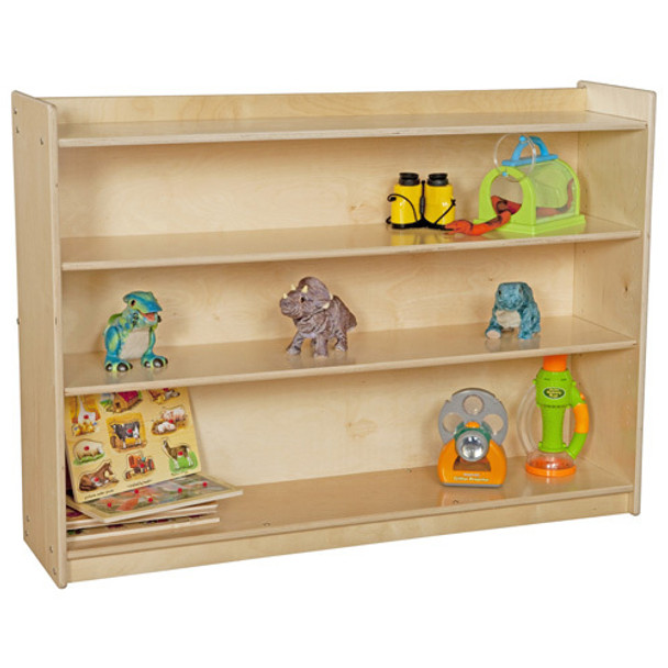 Wood Designs C12736AJF Contender Mobile Adjustable Bookcase with Lip 35.5 Inches