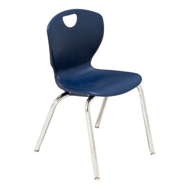 Scholar Craft SC3118CO Ovation Contemporary Style Four Leg Stack Chair 18 inch Seat Height
