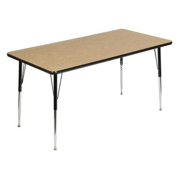Scholar Craft FS849RE3060 Rectangular Thermofuse Melamine Activity Table 30 x 60