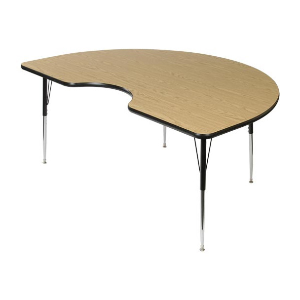 Scholar Craft FS849KD4872 Kidney Thermofuse Melamine Activity Table 48 x 72
