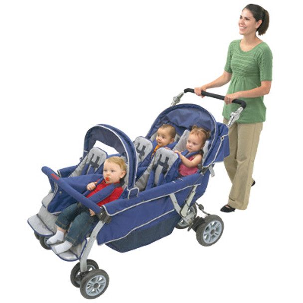 Angeles AFB6700 Sure Stop Folding Commercial Bye-Bye Stroller 6-Passenger