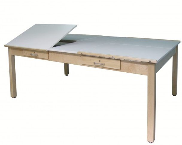 e0a1d1e5a2ad Hann WD-4876-4D Four Station Drawing Table with 4 Adjustable Tops l ...