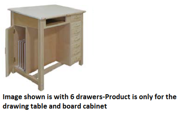 f19c385d30c7 Hann WD-22 Drawing Table with Drawing Board Storage Cabinet 39 Inch Height  ...
