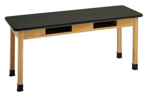 Hann STB-4260R Epoxy Top Science Table with Bookwell 42x60