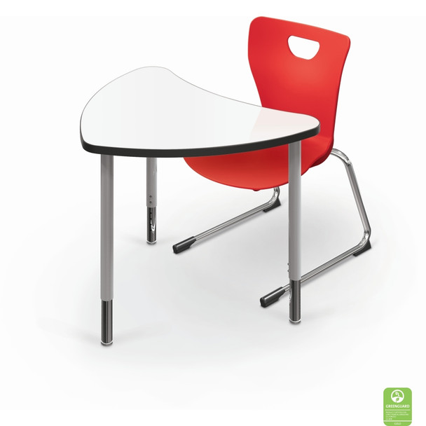 MooreCo 15XXFX-MRKR Chevron Configurable Markerboard Table Large