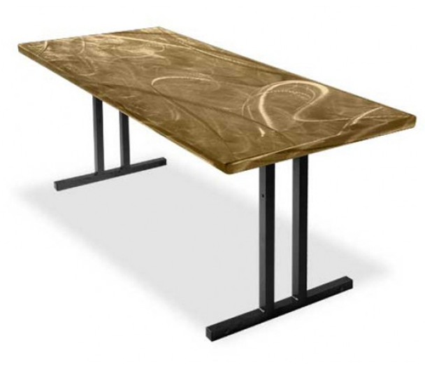 Southern Aluminum SA3072 Swirl Folding Table 30x72  (Roman II Legs)