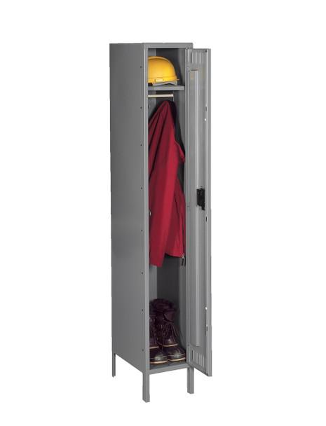 Tennsco STK-151572-1 Unassembled Steel Single Tier Locker with Legs 15 x 15 x 78
