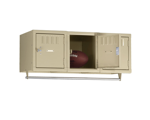 Tennsco BS1-121812-3 Steel 3 Person Wall Mounted Locker 36x18x12