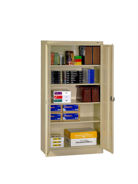 Tennsco 1480RH Standard Cabinet with Recessed Handle 36x24x72