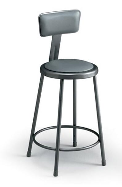 Fine Ki 624Bua Industrial Upholstered Stool With Backrest Adjustable Height 25 To 33 Inzonedesignstudio Interior Chair Design Inzonedesignstudiocom