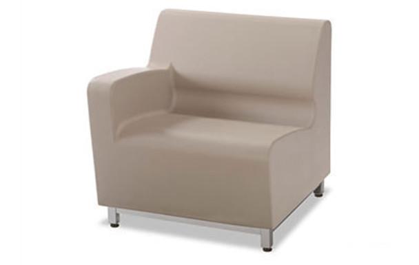 Norix Furniture HN805L.HN855 Hondo Nuevo Left Arm 30 Inch Chair with Steel Base Legs
