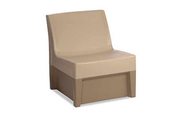 Norix Furniture FC630/FC660 Forté Lounge Armless Chair with Molded Base