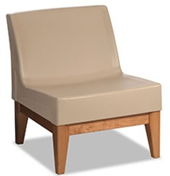 Norix Furniture FC630/FC680 Forté Lounge Armless Chair with Wood Base