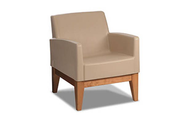 Norix Furniture FC620/FC680 Forté Lounge Arm Chair with Wood Base