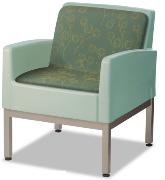 Norix Furniture FC670/FC670U Forté Lounge Arm Upholstered Chair with Steel Base