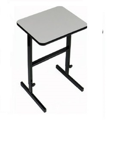 Correll CST2436 High Pressure Laminate Top Work Station 24 W x 36 L Adjustable Standing Height