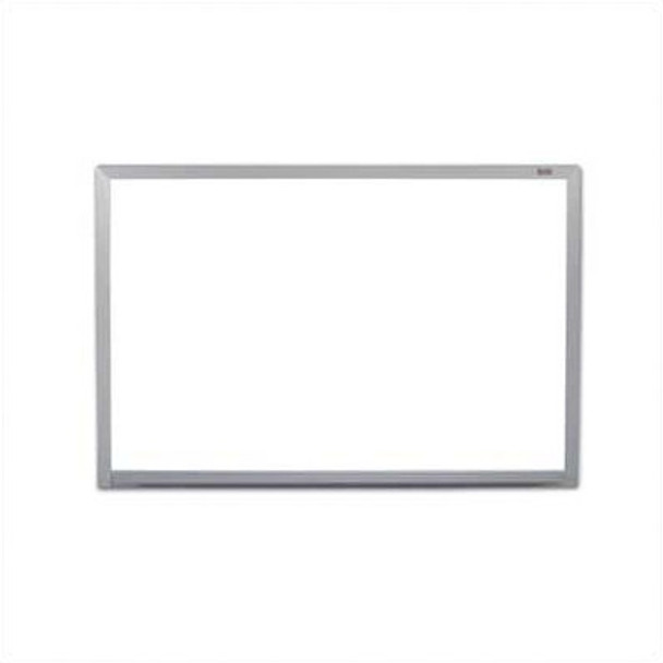 Marsh Industries PR404-1460-6100 Pro Lite Magnetic Wall Mounted Whiteboard with Aluminum Frame 48 W x48 L