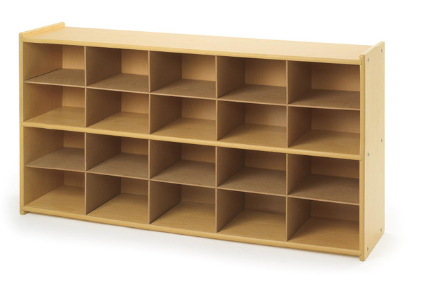 Steffy Wood ANG7153 20 Tray Storage Cabinet with No Trays