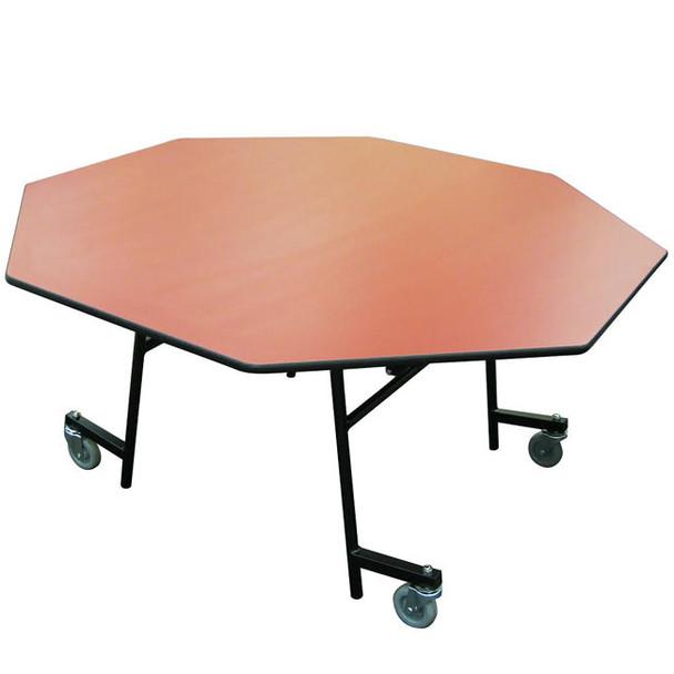 AmTab MOCZT60 Octagon Mobile EZ Tilt Cafeteria Table 60 Inch Diameter