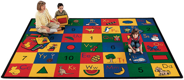 """Carpets for Kids 1301 Premium Collection Block of Fun Rug 4' 5"""" x 5' 10"""""""