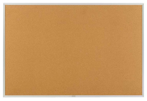 Marsh Industries AN408-1400-0000 Natural Cork Board with Aluminum Frame 48 W x 96 L