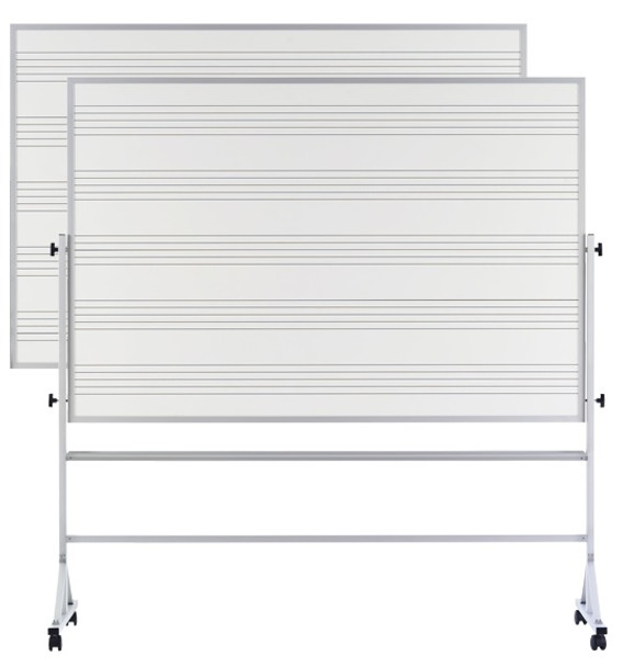 Marsh Industries RA46CMS2S Reversible Markerboard Music Staff Porcelain Steel Both Sides 4 x 6