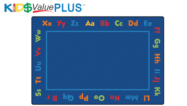 Carpets for Kids 96.88 Alphabet Value Rug Rectangle 8' x 12'